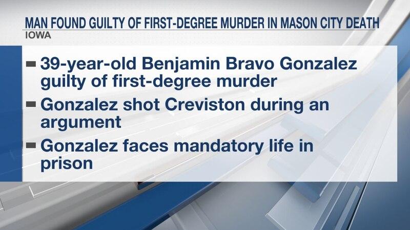 Man found guilty of first-degree murder in Mason City death