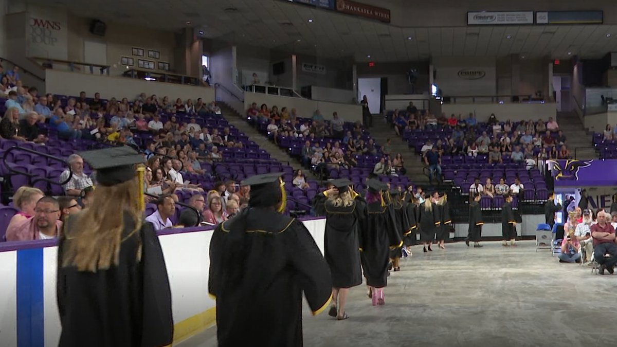 FILE — Students graduate from Mankato Area Public Schools during a ceremony at the Mayo Clinic...