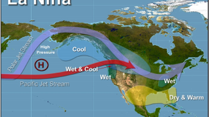 La Niña episodes cause cooler stormy conditions across the north with drier and warmer...