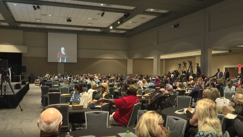 Hundreds filled the Mayo Clinic Health System Event Center's banquet hall for Mankato Area...