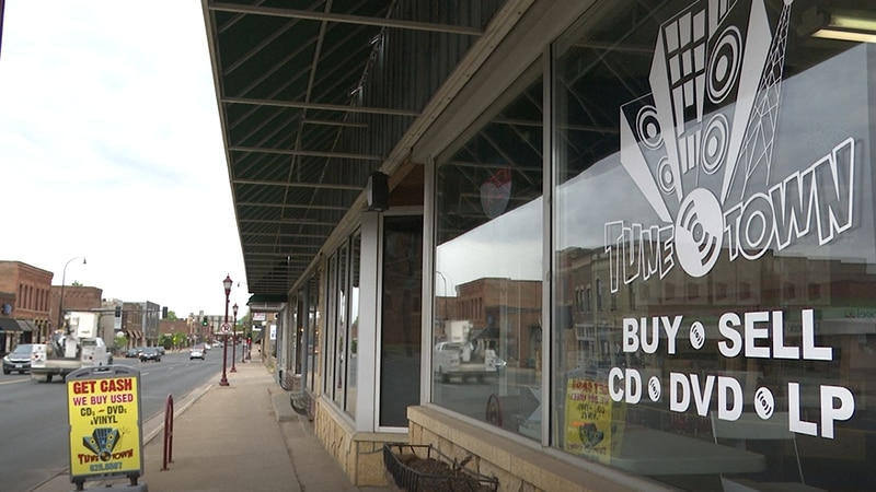 The Tune Town Music storefront is pictured Friday, May 14, 2021, in Mankato, Minn.