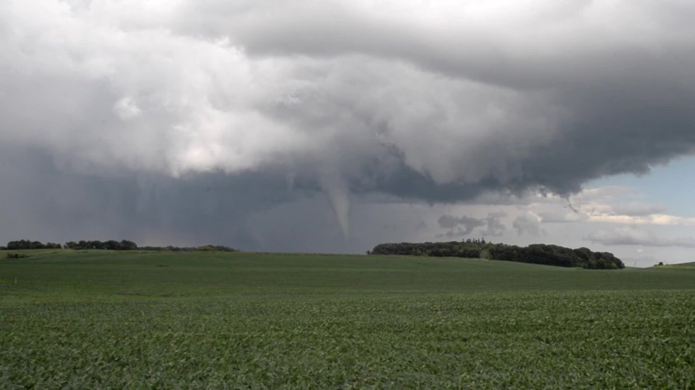 Meteorologist Joshua Eckl was in the field and confirmed a funnel cloud touched down near the...