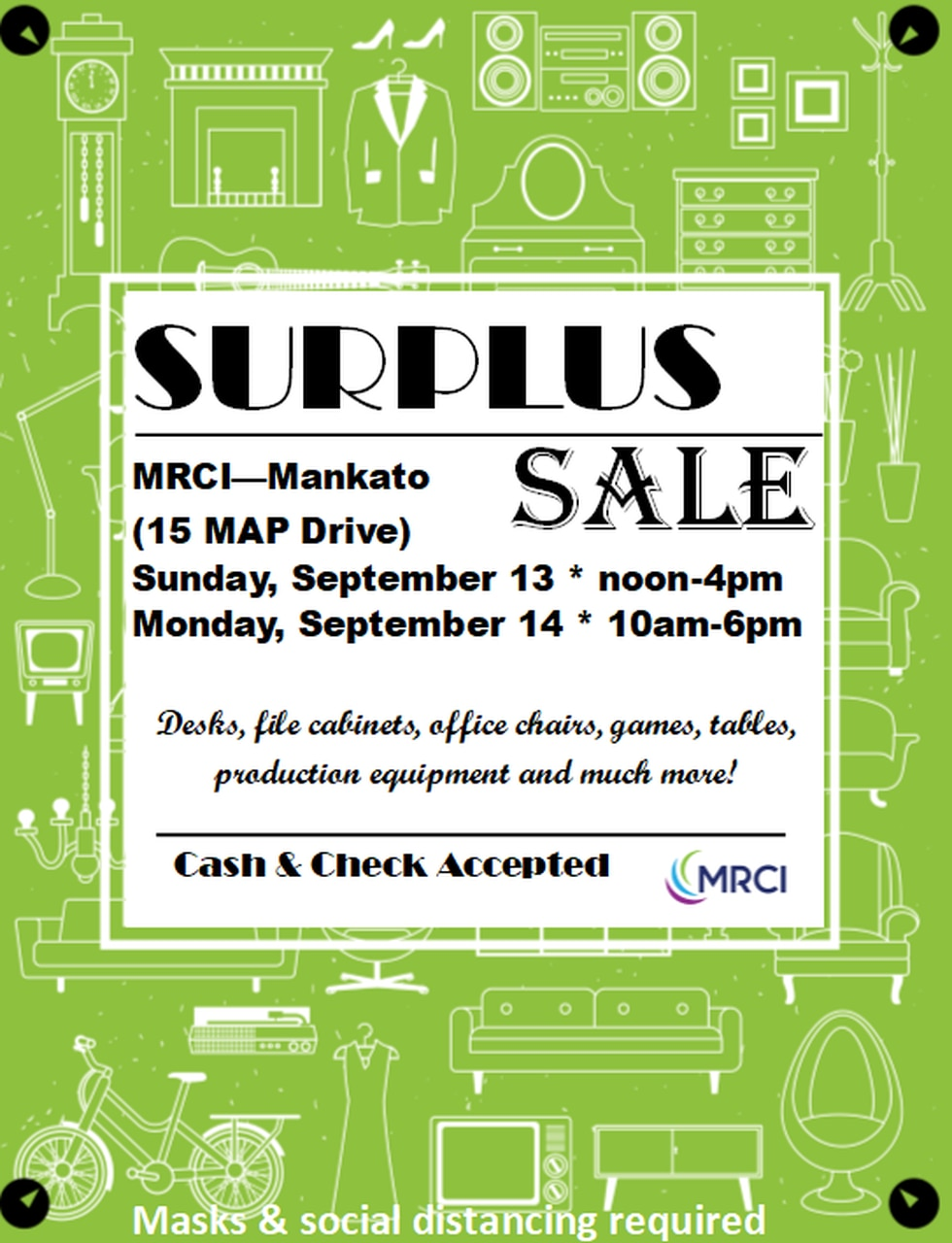 If you want to help with funding for MRCI, they are having a community sale out at 15 Maps...