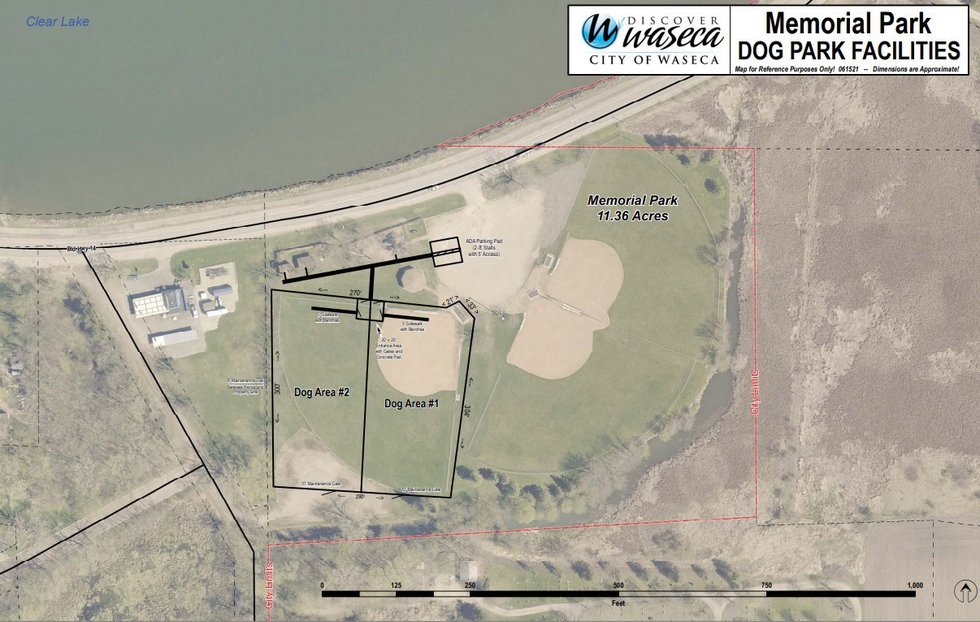 Plans are for one of the ballparks at Memorial Park to be converted into the dog park, with an...