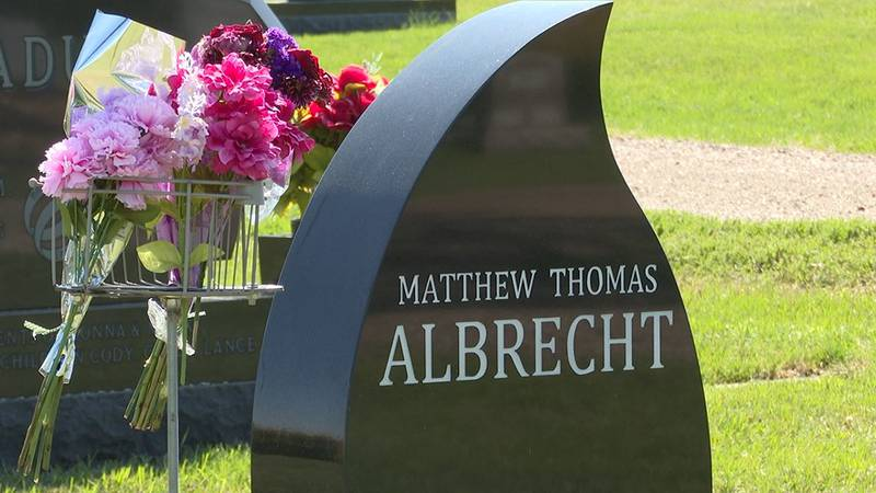 Albrecht family lays Mathew Albrecht's remains to rest at Union Cemetery, Mapleton Minnesota.
