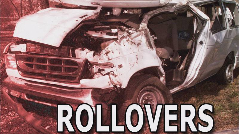 Two juveniles are airlifted following a vehicle rollover Wednesday morning in McLeod County.