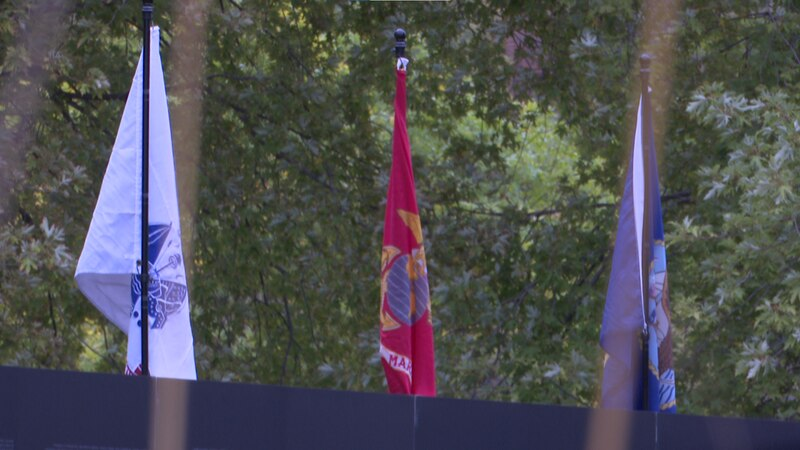 360 foot, 80% replica of the Vietnam Wall is up at the Vietnam Veterans Memorial in Mankato