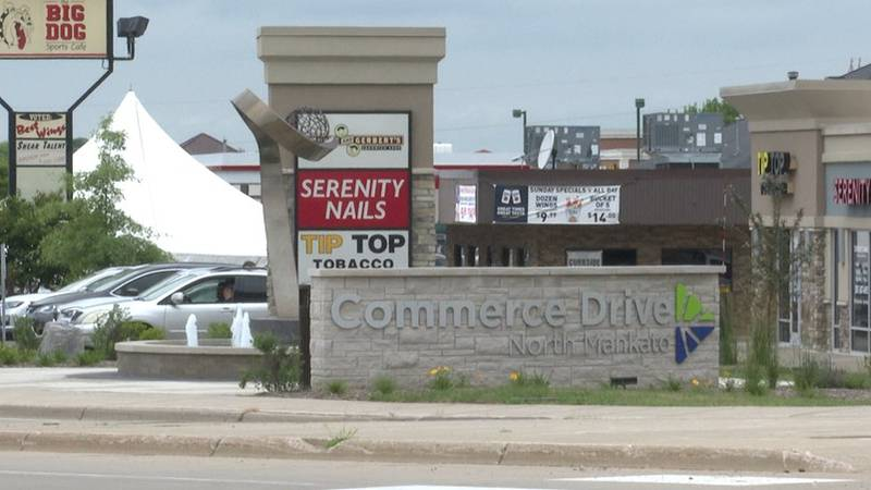 Businesses on Commerce Drive are pictured Tuesday, July 6, 2021, in North Mankato, Minn.