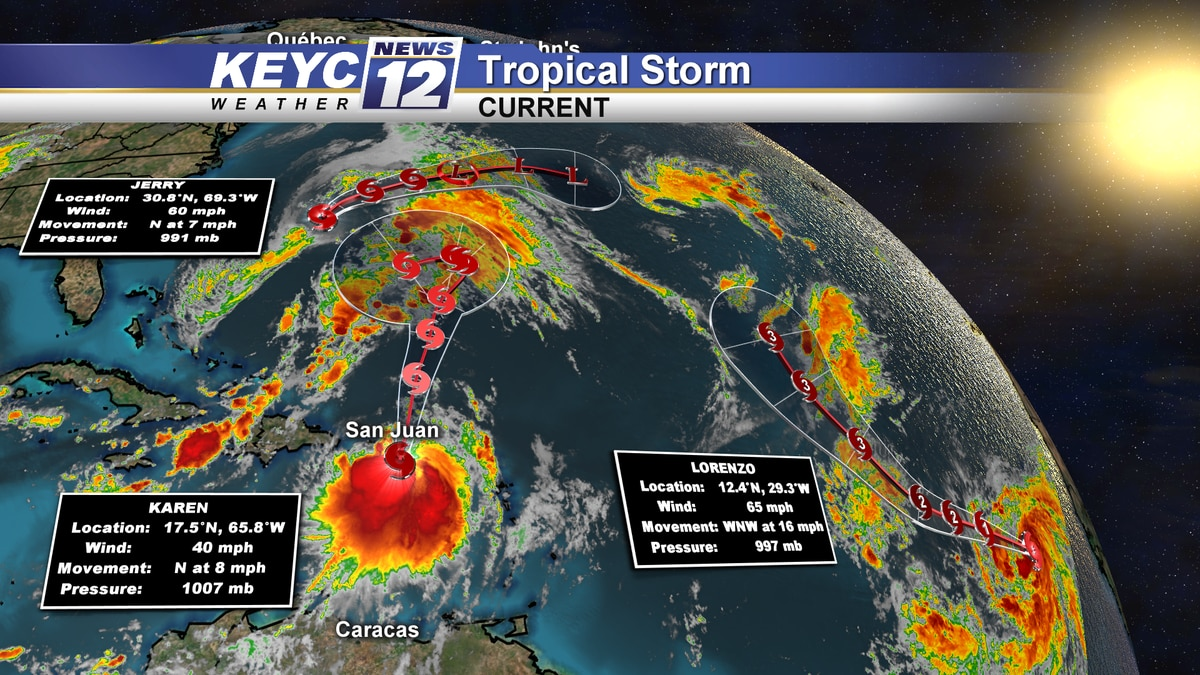 Multiply tropical storms are working across the Atlantic Ocean.