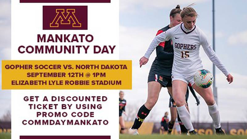 The Minnesota Gophers will celebrate Mankato Community Day when they take on the University of...