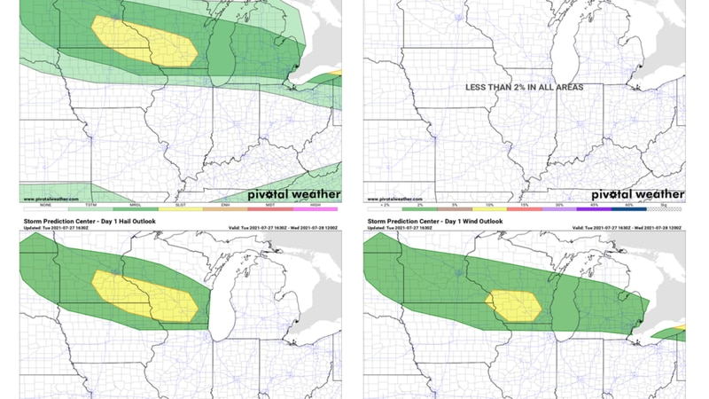Severe thunderstorms possible today across parts of southeastern Minnesota today. Main threat...