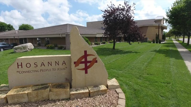 Signage at Hosanna Lutheran Church in Mankato, Minn., is pictured in this undated photo.