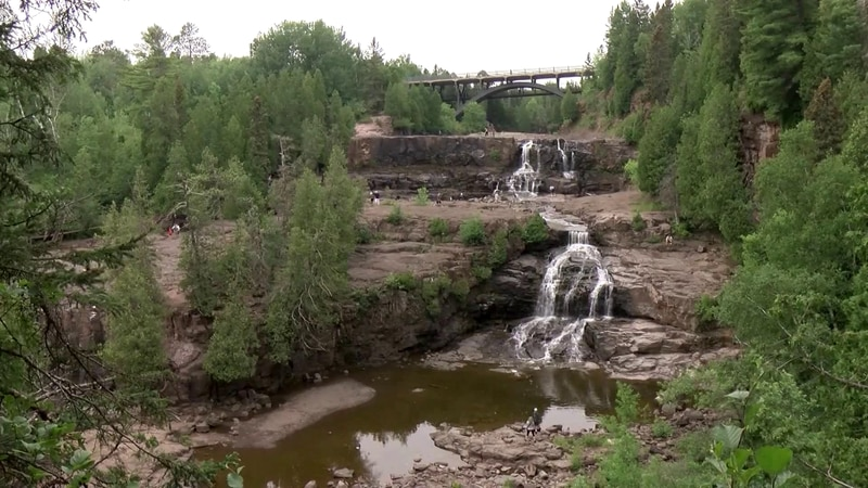 Gooseberry Falls is normally full of rushing water this time of year, but right now, the...