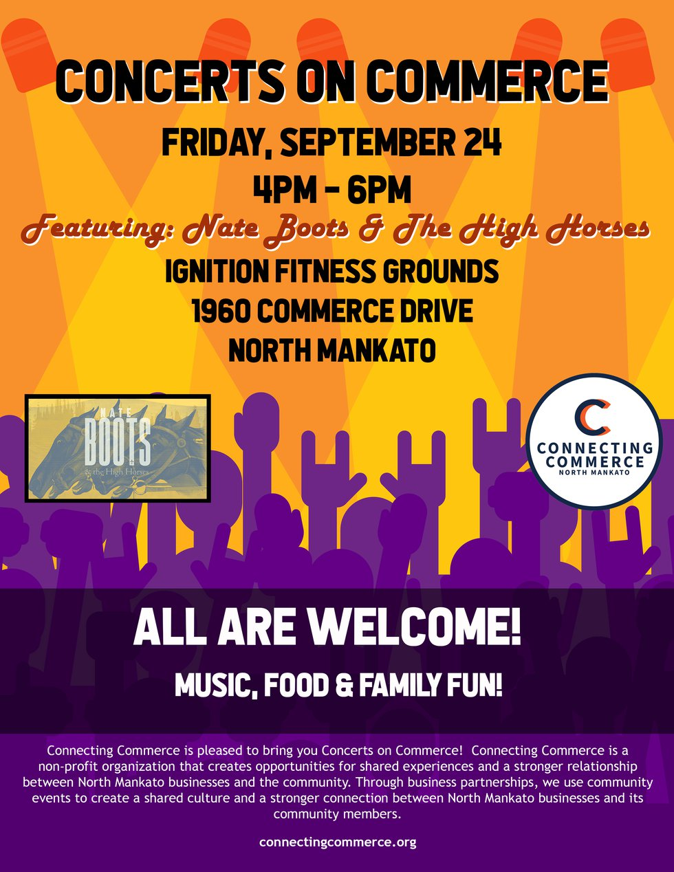 The Connecting Commerce Business Association will be hosting its annual Concerts on Commerce...