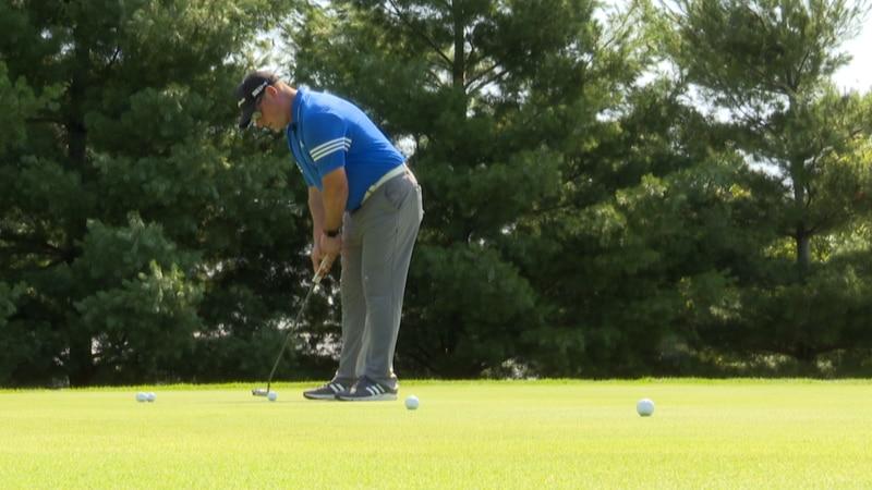 Jason Harrell, the head golf professional at Shoreland Country Club in St. Peter, Minn.,...