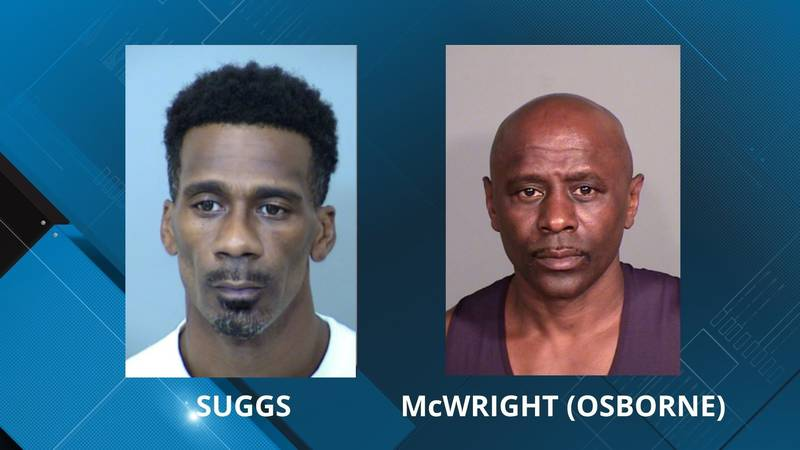 Antoine Suggs and Darren McWright, also known as Darren Osborne, are in custody as suspects in...