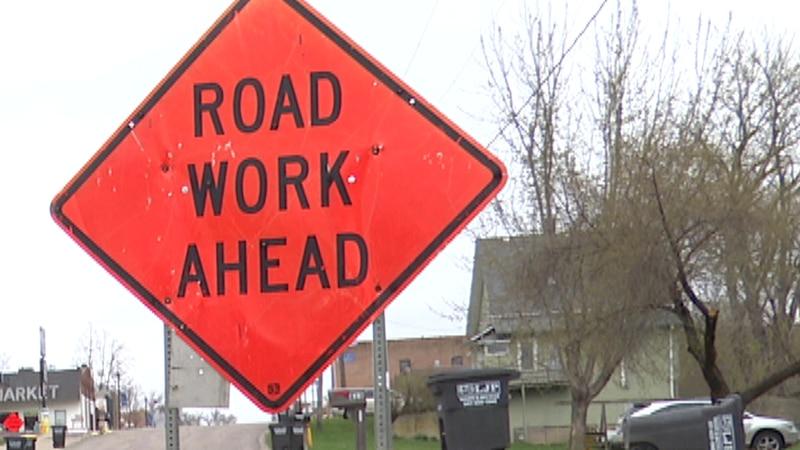 Minnesota Department of Transportation crews make final preparations Tuesday, April 13, 2021,...