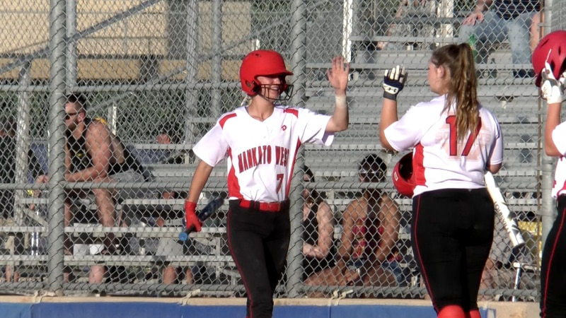 The Mankato West softball advances in Section 2AAA tournament.
