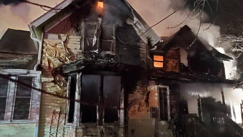 A home at 1414 N. 6th Street in Estherville, Iowa, was severely damaged by fire Saturday, Jan....