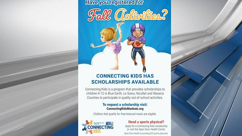 Connecting Kids offers fall scholarships for youth activities and after-school programs.