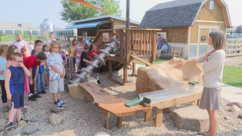 Kids can now play and interact with two new features outside the Children's Museum of Southern...