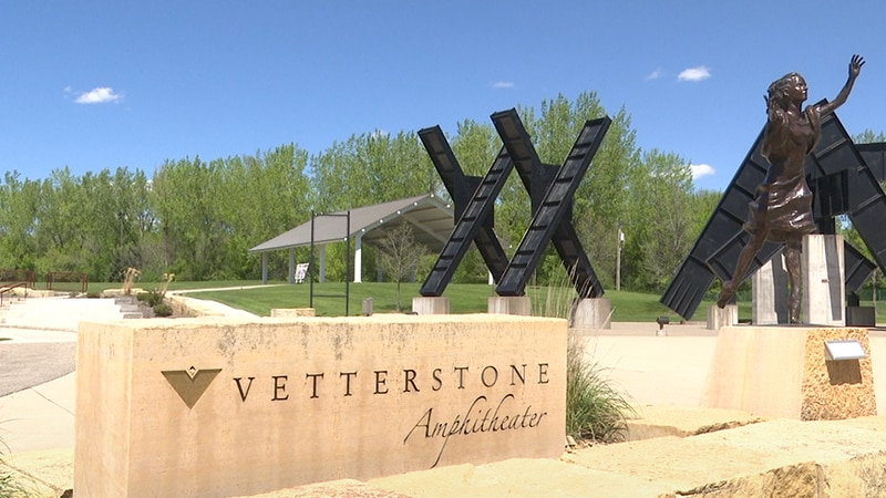 The Vetter Stone Amphitheater is pictured Friday, May 7, 2021, in Mankato, Minn.