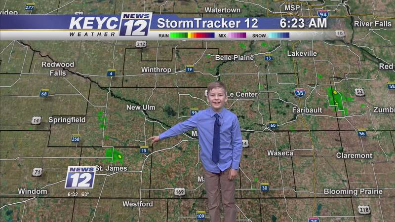 Ethan Harbitz joined KEYC News 12 as this month's weather kid.