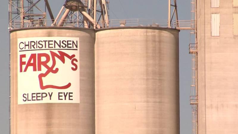 An explosion at Christensen Farms in Sleepy Eye Tuesday morning.