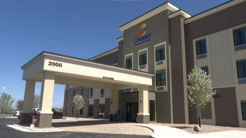 The newly constructed Comfort Inn & Suites hotel in North Mankato, Minn., is pictured Tuesday,...