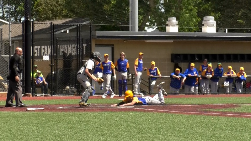 The Crusaders brought in 16 runs to defeat Mt. Lake Area Comfrey.