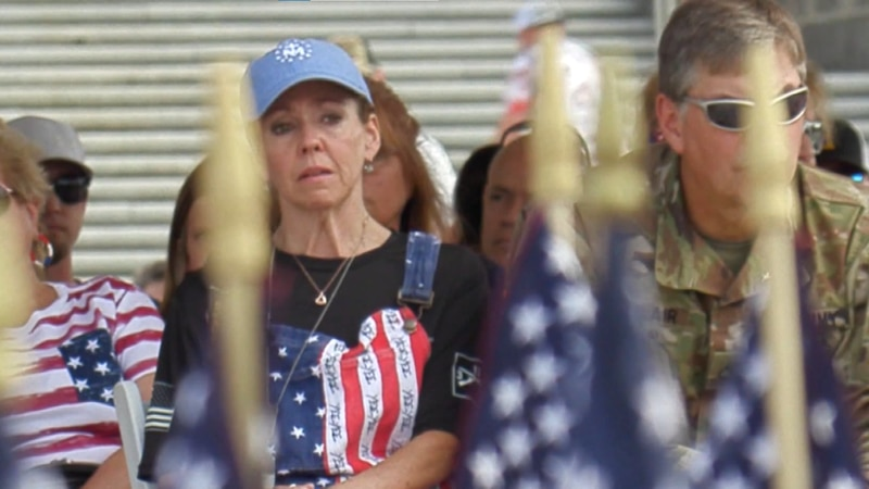 A Gold-Star Family attends Memorial Day service in honor of their loved one
