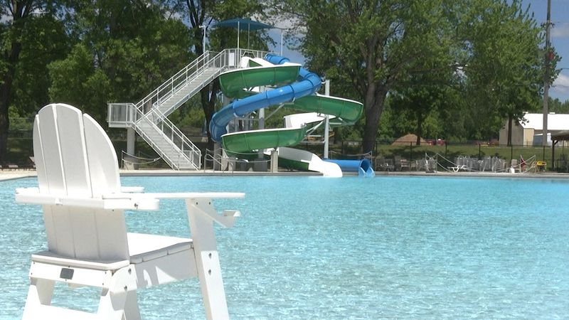 The swimming pool at Spring Lake Park Swimming Facility is pictured Friday, May 28, 2021, in...