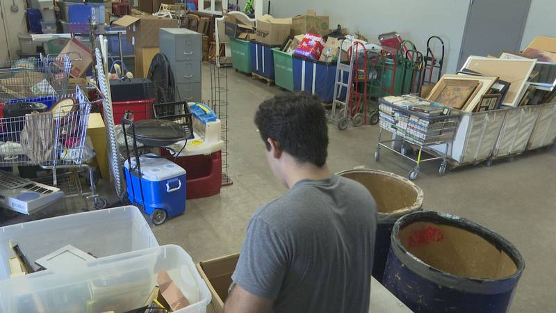 Some local thrift stores are seeing a higher volume in donations everyday, and are now asking...