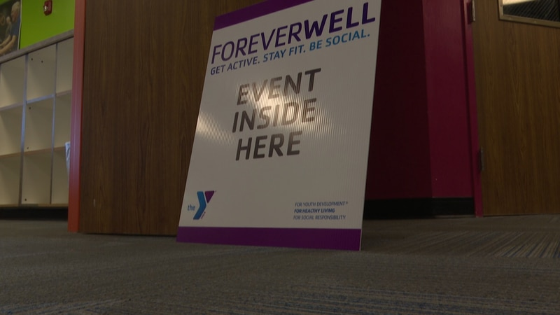 A sign highlighting the new ForeverWell program at the Mankato Family YMCA is pictured...