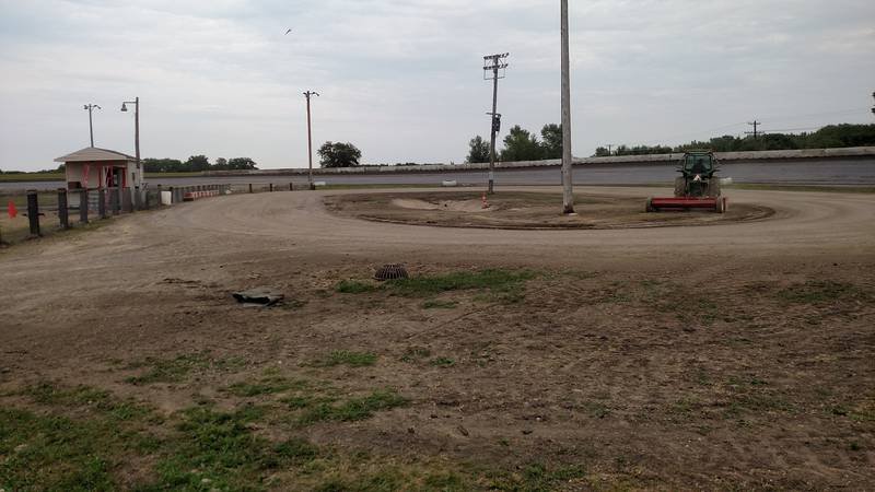 FILE — Lon Oelke is the full-time announcer at Fairmont Raceway, where he worked Friday — days...
