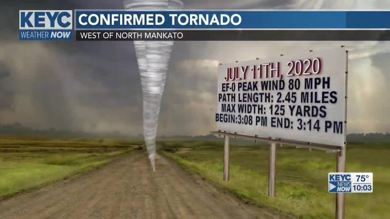 Yesterday's storm was rated a weak EF-0 out of 5 on the Enhanced Fujita scale