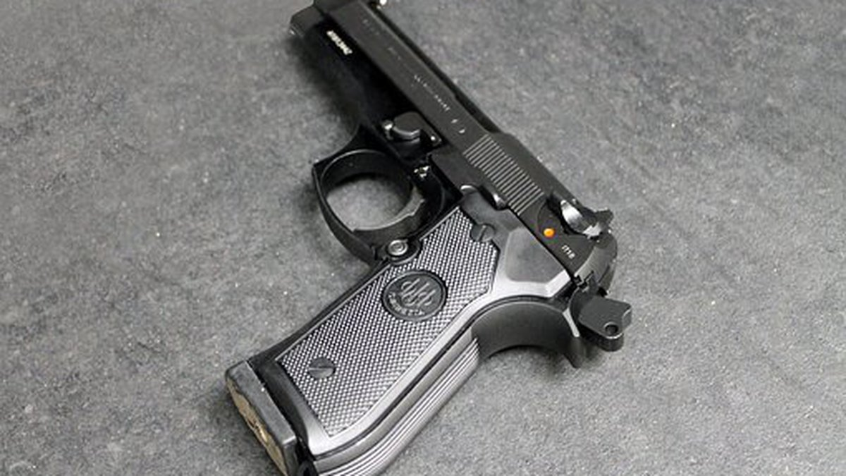 FILE — Handguns and rifles that have been modified into fully automatic weapons that can fire...