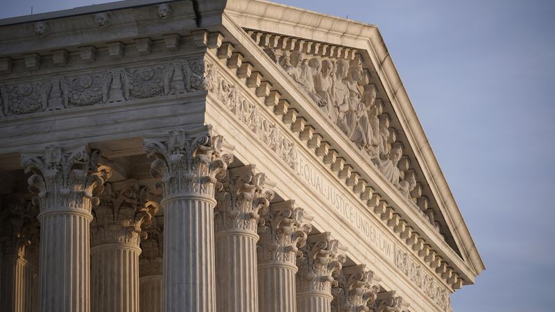 FILE - In this Nov. 5, 2020 file photo, the Supreme Court is seen in Washington.