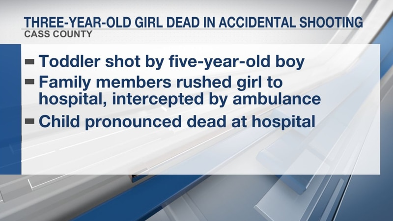 Three-year-old girl dead in accidental Cass County shooting