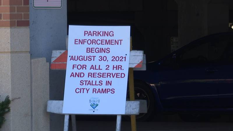 Parking enforcement begins for all 2 hour and reserved stalls in Mankato city ramps....
