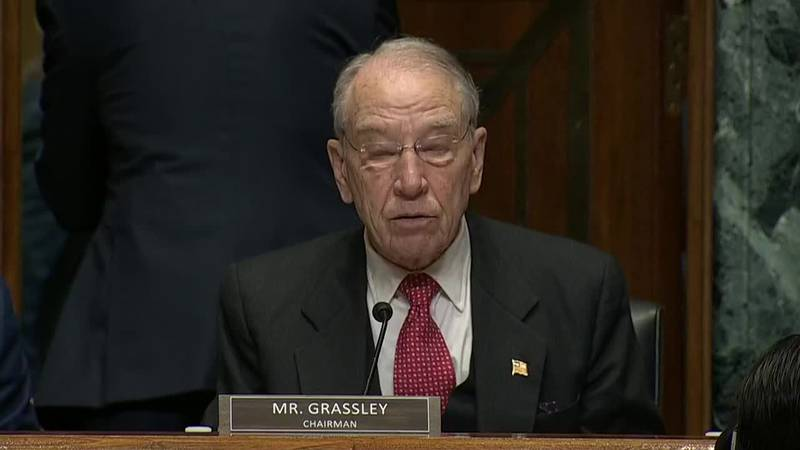 Sen. Chuck Grassley says Americans are hurting from high drug prices in a hearing with Pharma...