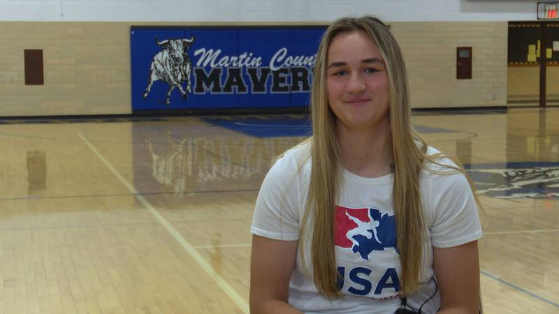 Katie Lange recently won a Pan-American title in wrestling earlier this month.