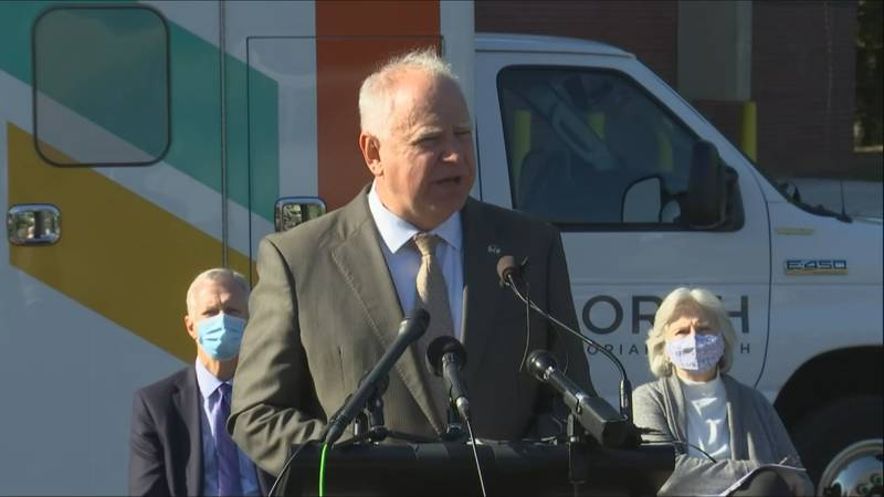 Walz announces plan to help hospitals, launch new testing opportunities