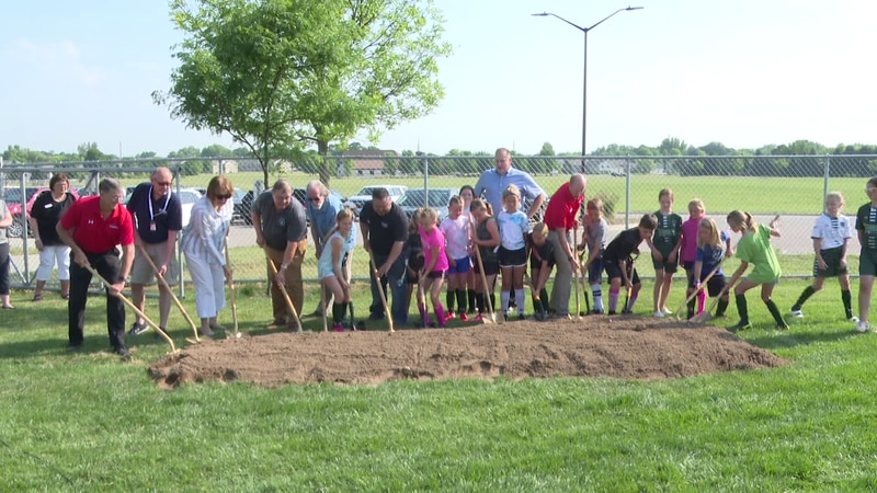 North Mankato city officials, Mankato United Soccer Club staff members and youth soccer players...
