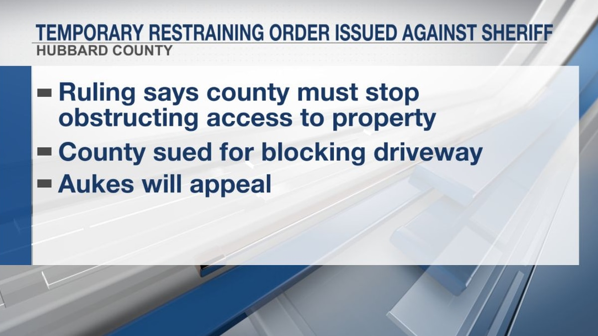 Temporary restraining order issued against Hubbard County sheriff