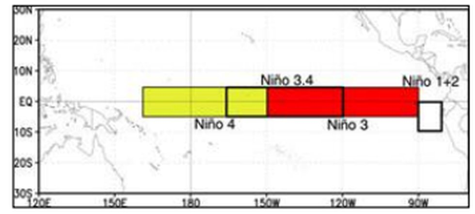 Visual view of where data is recorded for keep track of sea surface temperatures associated...