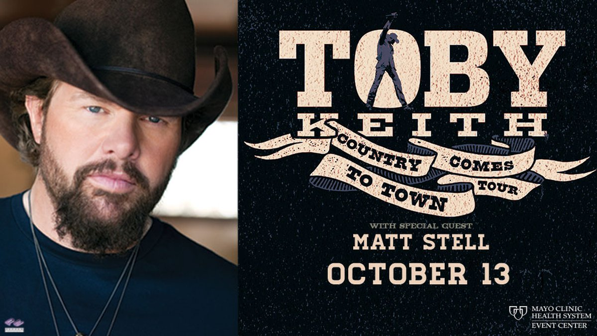 Country is coming to town October 13th at the Mayo Clinic Health System Event Center.