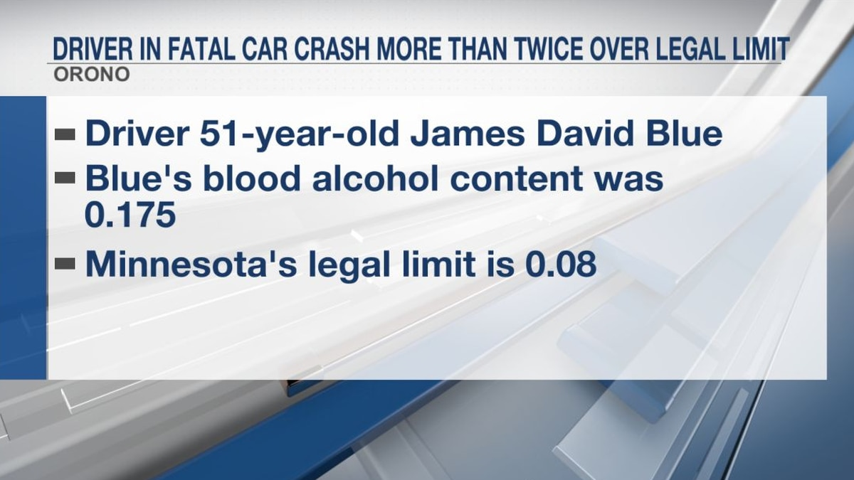 Driver in fatal car crash more than twice over legal limit
