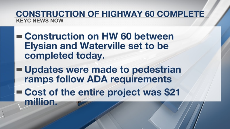 The stretch of HIghway 60 between Elysian and Waterville will open today according to The...