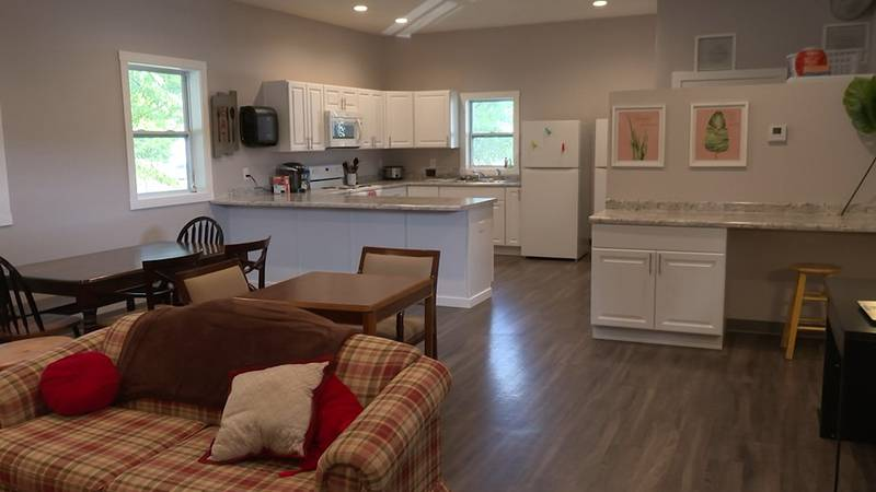 The Union Street Place shelter in St. Peter opened a new common space for shelter guests,...